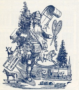 Reprsentation de Santa Claus parue dans le Montreal Illustrated en 1894. (Les collections de BAnQ)