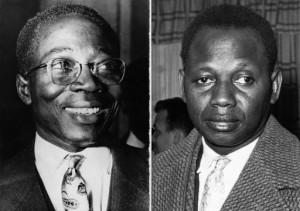 Léopold S. Senghor et Mamadou Dia. Crédits : AFP.