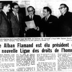 Source : « Me Alband Flamand est élu président de la nouvelle Ligue des droits de l'homme », Le Devoir, 30 mai 1963.