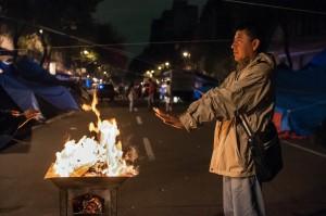 Campement de la CNTE, septembre 2013 Crédits : Eneas