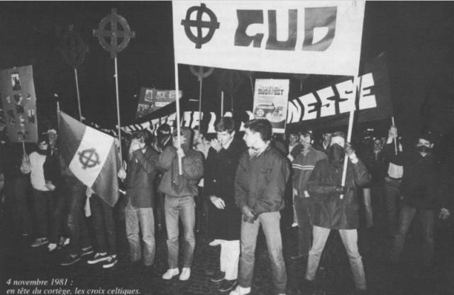 Manifestation pour le 25e anniversaire de l'écrasement du soulèvement de Budapest par les soviétiques, 4 novembre 1981.