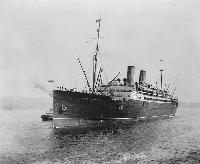 L'Empress of Ireland. Bibliothèque et Archives Canada, PA-116389.
